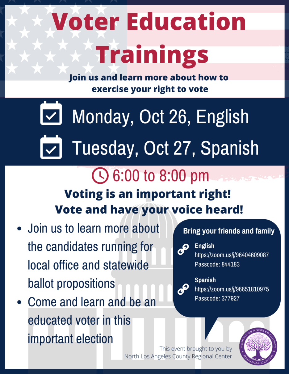 Voter Education Training English