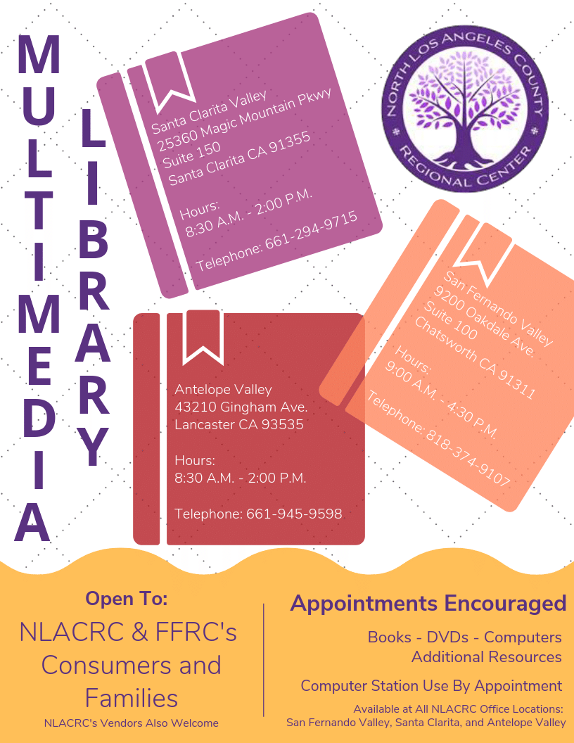 NLACRC Multimedia Library flyer English
