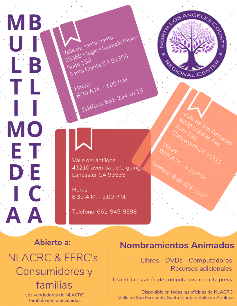 NLACRC Multimedia Library flyer Spanish
